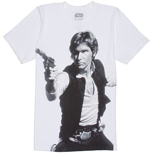 Mighty Fine Star Wars Han's A Blast T-Shirt - X-Large - cream