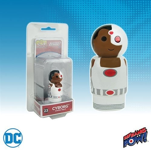 Justice League Cyborg Pin Mate Wooden Figure