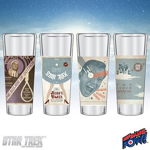 Star Trek The Original Series Fine Art Shot Glasses Set 15