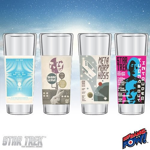 Star Trek The Original Series Fine Art Shot Glasses Set 20