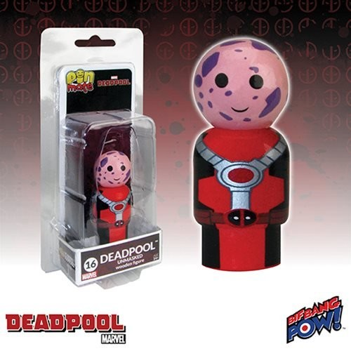 Deadpool Unmasked Pin Mate Wooden Figure