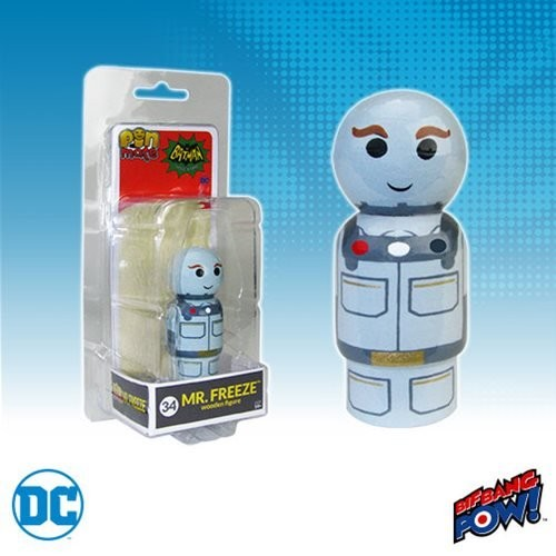 Batman Classic TV Series Mr. Freeze Pin Mate Wooden Figure