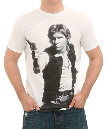 Mighty Fine Star Wars Han's A Blast T-Shirt - Large - cream