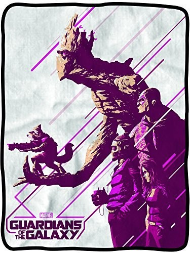 Guardians of the Galaxy Purple Group Fleece Throw Blanket by Classic Imports