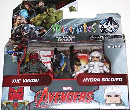 "Marvel Avengers Age of Ultron Minimates Series 63 The Vision & Hydra Soldier 2"" Minifigure 2-Pack"