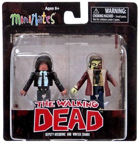 The Walking Dead Minimates Series 6 Minifigure 2-Pack <b>Deputy Michonne & Winter Zombie</b> by Diamond Select