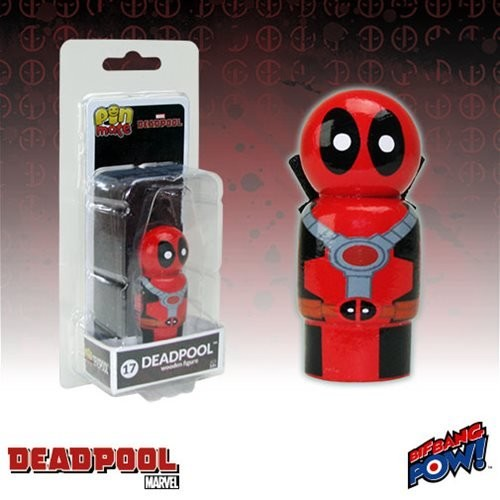 Deadpool Masked Pin Mate Wooden Figure Bif Bang Pow